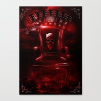 Infernal throne Canvas Print