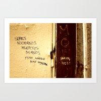 Palabras En La Calle  Art Print