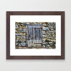 Door at the Mill Framed Art Print