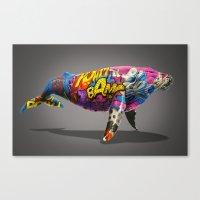 Tagged Whale Canvas Print