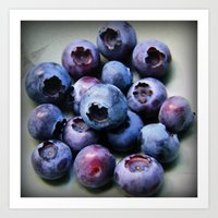 Blueberries - You Know Y… Art Print