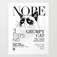 Grumpy The Cat Art Print