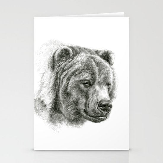 Brown Bear G2012-054 Stationery Card