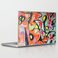 graffiti Laptop & iPad Skins featuring graffiti by Annika Erixon