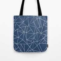 Ab Dotted Lines Navy Tote Bag