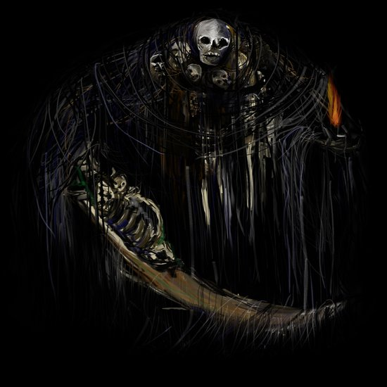 Gravelord Nito - Dark Souls (black tee PNG edition) Art Print