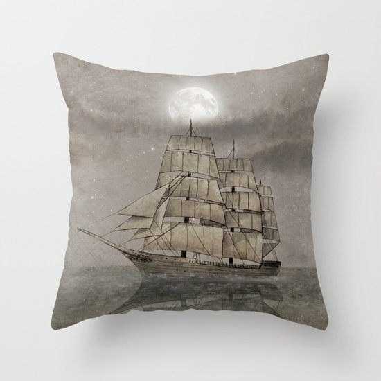 Night Journey  Throw Pillow