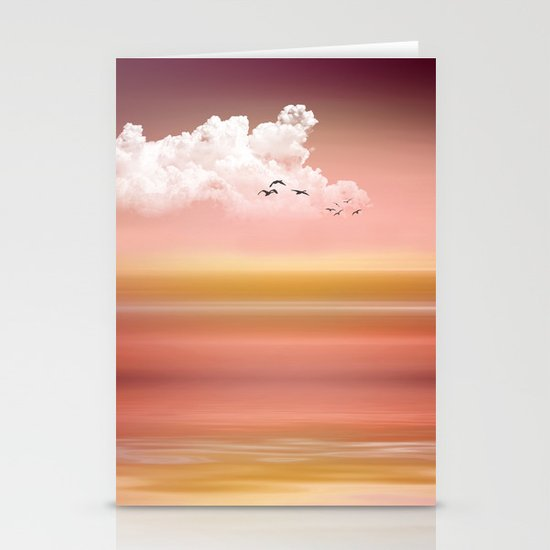 FROM DUSK TO DAWN - a golden sunset Stationery Card