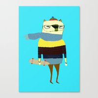 Bear Skateboarder, Skate… Canvas Print