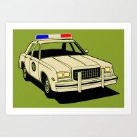 Cop Art Print