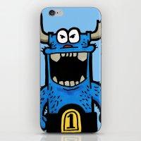 big blue iPhone & iPod Skin