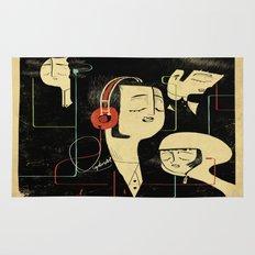 乐 Music Lovers / Vintage  Rug