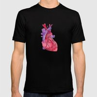 Heart Mens Fitted Tee Black SMALL