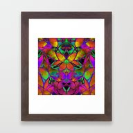 Floral Fractal Art G306 Framed Art Print