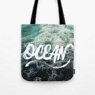 Call Of The Ocean Tote Bag