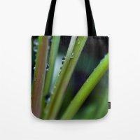 Grass Drops Tote Bag