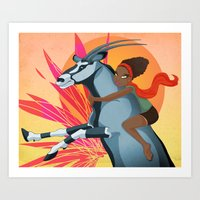 Gemsbok Love Art Print