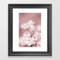 WINTER FOOWER Framed Art Print