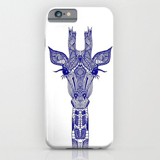 GIRAFFE BLUE iPhone & iPod Case