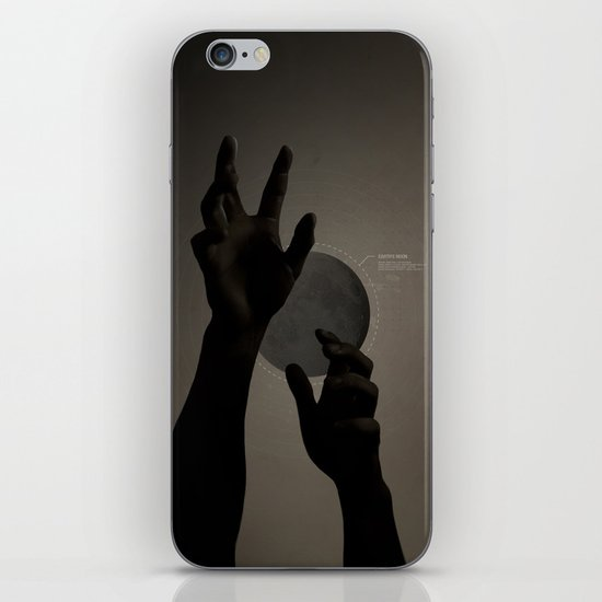 Hand's on the Moon iPhone & iPod Skin