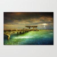Sea @ Storm Canvas Print