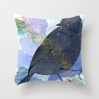 Vinter fugl Throw Pillow