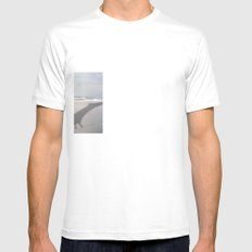 THE BEACH-Suburban Monster Series White Mens Fitted Tee SMALL