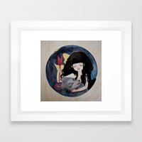 The First Seduction or Big Bad Wolf Having a Big Bad Day Framed Art Print