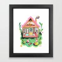 Rebecca Rabbit, Her Hous… Framed Art Print