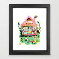 Rebecca Rabbit, Her Hous… Framed Art Print