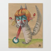 CAT CLOWN Canvas Print