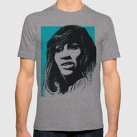 Tina Turner Mens Fitted Tee Athletic Grey SMALL