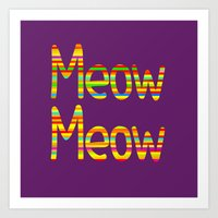Meow Meow (in color) Art Print