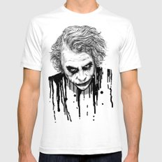 The Joker Mens Fitted Tee White SMALL