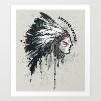American Heritage (White… Art Print