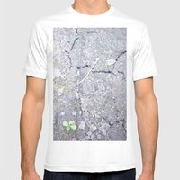 The Crackel Mens Fitted Tee White SMALL
