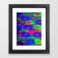 NIGHT LIFE - Bold Neon A… Framed Art Print