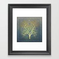 Twilight Tree Framed Art Print