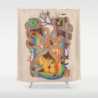 A Fragmented Reality Shower Curtain