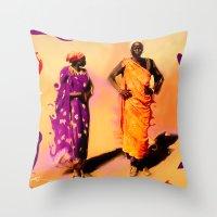 Land Of The Sahara Throw Pillow