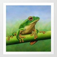 Moltrecht's Green Treefr… Art Print