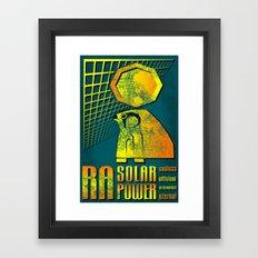 Ra Solar Power Framed Art Print