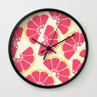 Citrus: Grapefruit Wall Clock