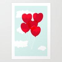 Love Balloons  Art Print
