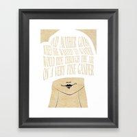 Old Mother Goose - Lesso… Framed Art Print