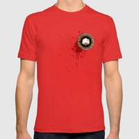 Minimal movie cover: Django Unchained Mens Fitted Tee Red SMALL