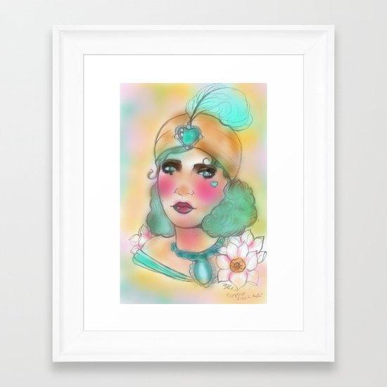 """Empress Rock-A-Hula"" Framed Art Print"