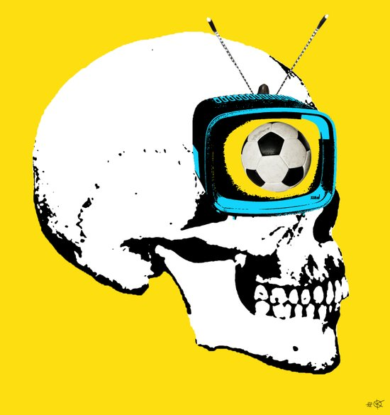 Football Mind - a round thing in the TV eye v4 Art Print