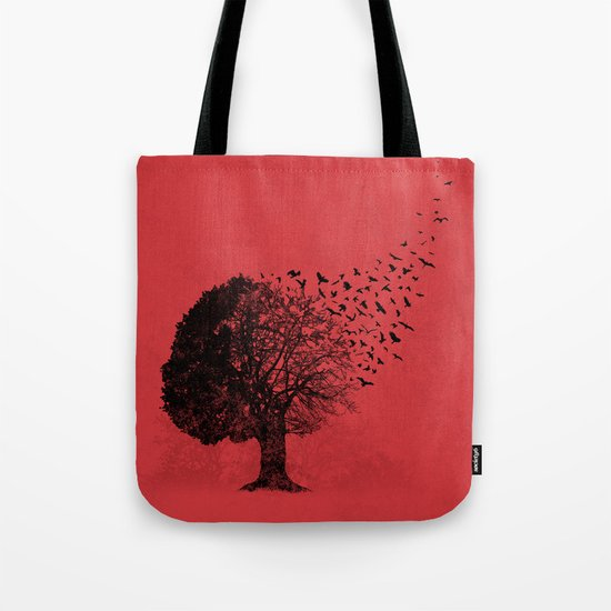 Autumn Birds Tote Bag