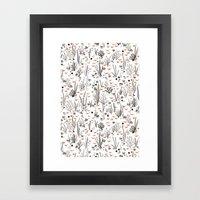 Crabby Pattern Framed Art Print